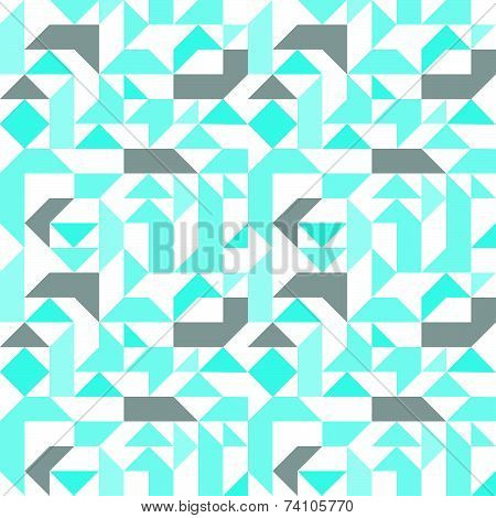 Pastel seamless pattern with geometric figures, infinite neutral mosaic textile, blue abstract