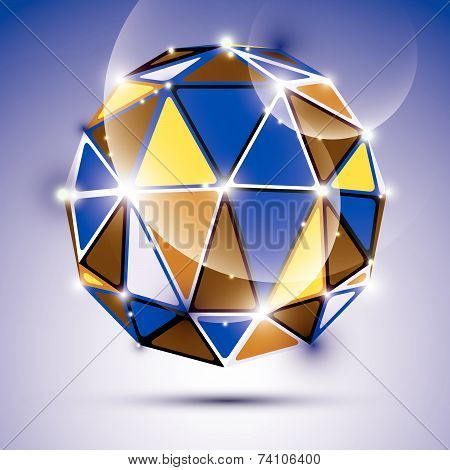Vector stylish illustration, shiny jewel effect, eps10. Gala 3D dazzling disco ball.