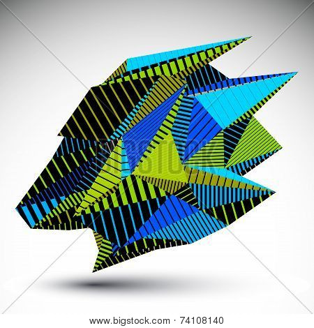Complicated Contrast Eps8 Figure Constructed From Triangles With Parallel Lines. Cybernetic