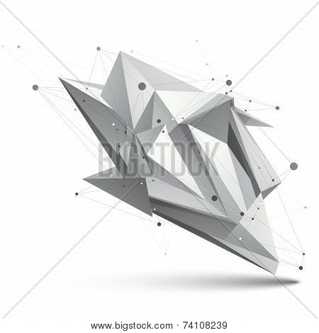 Modern Digital Technology Style, Abstract Unusual Background, Tech Complicated 3D figure