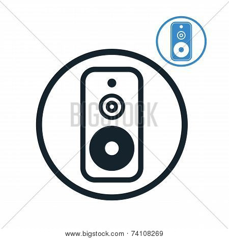 Audio Speaker Icon Isolated.