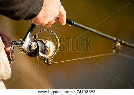 Spinning in the hands of the angler