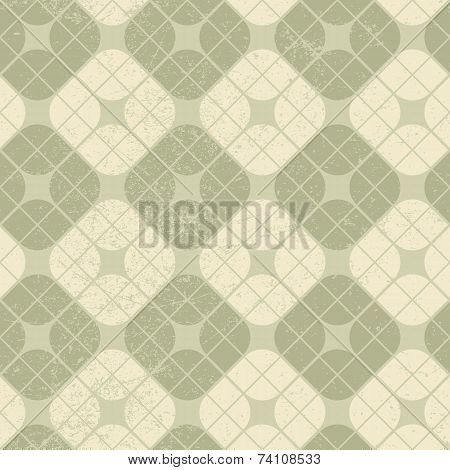 Light Vintage Squared Seamless Pattern, Geometric Abstract Backdrop.