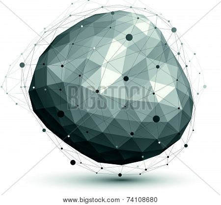 Geometric vector abstract 3D complicated lattice object, eps8 conceptual element.
