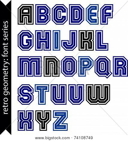 Regular stylish font with straight lines only. Triple sans serif typescript for use in posters and w
