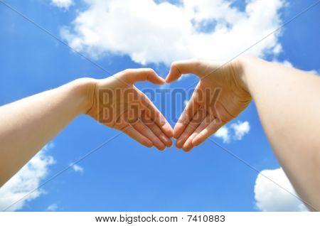 Hands Representing Heart