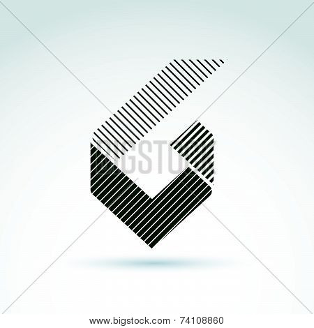 Vector abstract design element with parallel stripes.