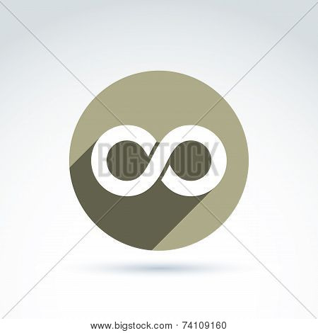 Vector Infinity Icon Isolated On White Background, Illustration Of An Eternity Symbol