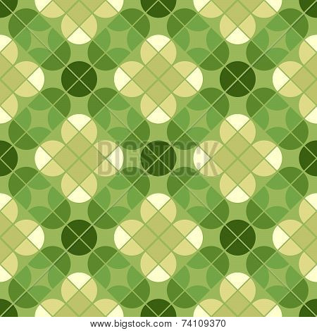 Vector geometric floral background, ornamental abstract seamless pattern.