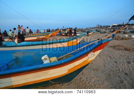 Fishing boats, Chennai, India