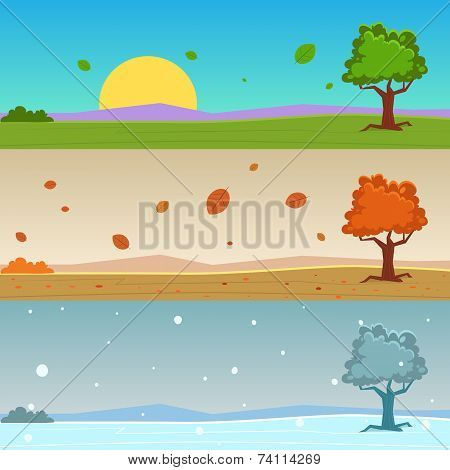 Season Cartoon Banners
