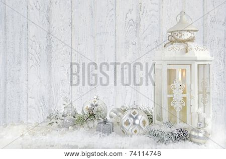 Christmas lantern with ornament