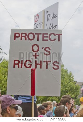 Protect Womens Rights Sign