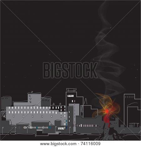 Smoke Over A City