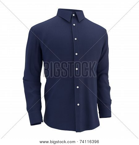 blue shirt on a white background