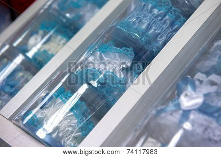 Blue garter for the bride