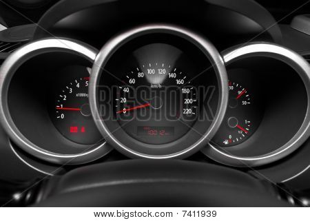 Dashboard Of A Sports Car