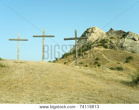 Three crosses on the hill, Crimea