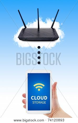 Router With Backup Storage Disk. Data In Your Own Cloud
