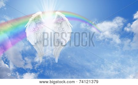 Angel Wings and Rainbow Website Banner