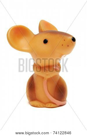 Toy mouse, isolated on white background