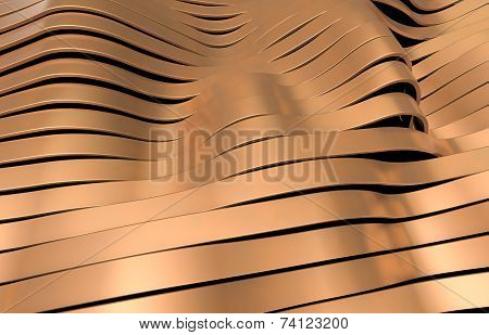 copper metal stripes background