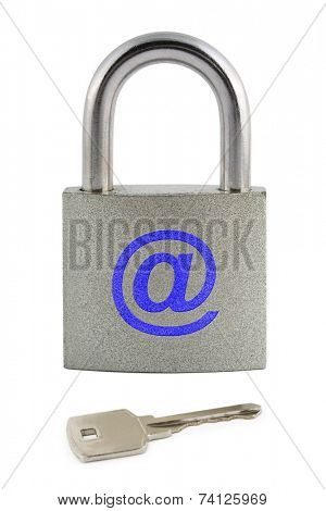 Internet security concept isolated on white background