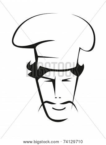 Doodle sketch of a handsome chef