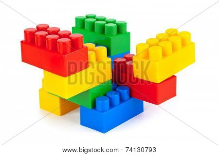 Abstract toy construction isolated on white background