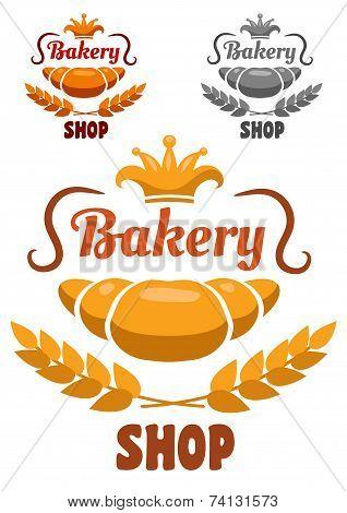 Bakery shop badge or label
