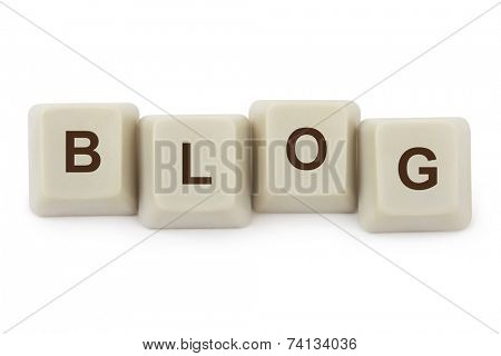 Computer buttons Blog isolated on white background