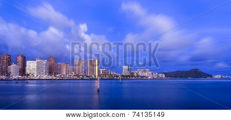 Hawaii skyline at twilight