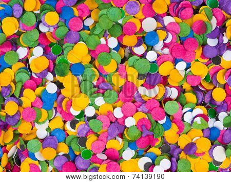 Colorful confetti texture - abstract holiday background