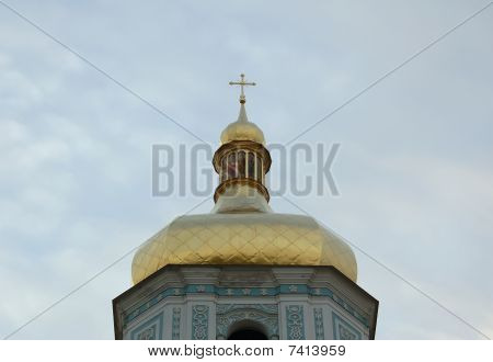 Gold dome of church