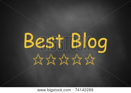 Black Chalkboard Best Blog Golden Stars