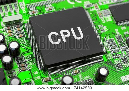 Macro of computer chip - technology background
