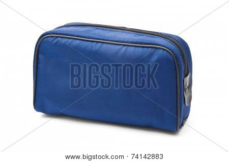 Blue case - isolated on white background