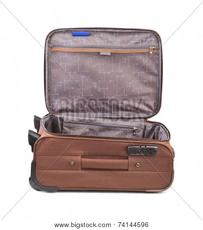 Travel case isolated on white background