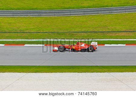 SEPANG, MALAYSIA - APRIL 9: Felipe Massa (team Scuderia Ferrari) atonat the  qualification  Formula 1 GP on April 9 2011 in Sepang, Malaysia