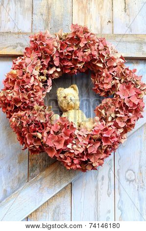 Teddy Bear autumn wreath