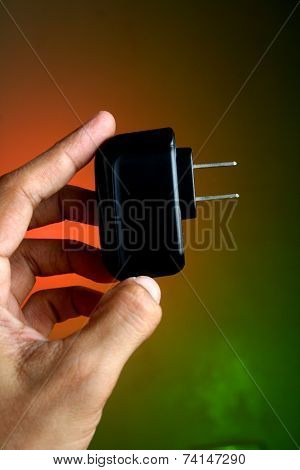 Hand holding a Gadget Charger