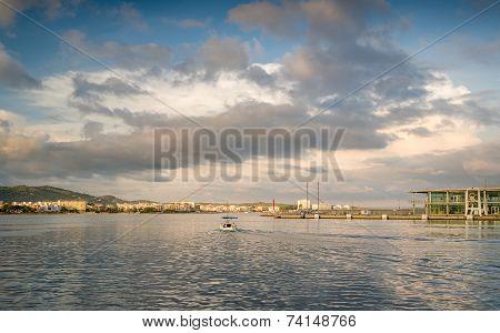Retro fishing boat