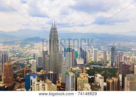 Kuala Lumpur (Malaysia) city view - architecture background