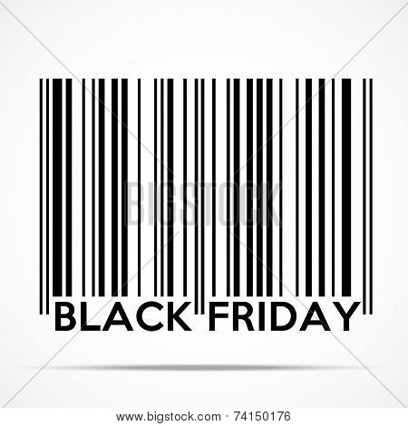 Black Friday sales tag in barcode style.