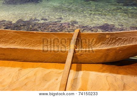 Boat Made from The Tree Trunk