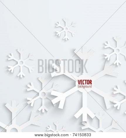 Abstract christmas snowflake paper 3D backbround