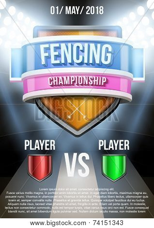 Background for posters fencing stadium game announcement. Vector