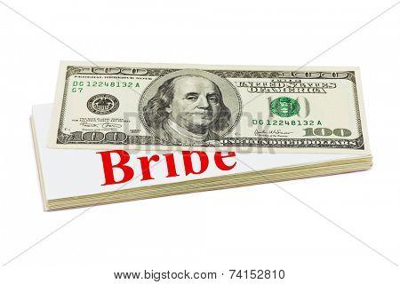 Bribe isolated on white background