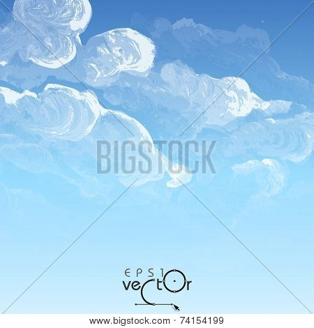 Cloud, Sky Painted Background