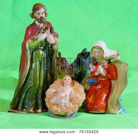 Mary And Joseph With The Child Jesus